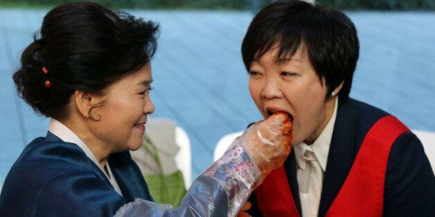 일본 왕족과 아베 부인의 '김장 김치