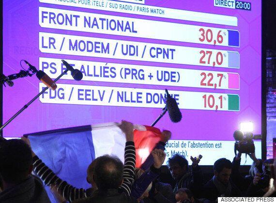 프랑스 극우정당 '국민전선' 지방선거 1차투표 출구조사