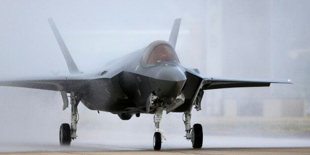 An F-35 arrives at it new operational base Wednesday, Sept. 2, 2015, at Hill Air Force Base, in northern...