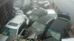 중국에서 최악스모그로 33중 연쇄추돌 사고가