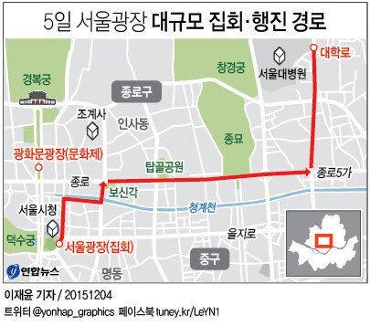 2차 민중총궐기 행진