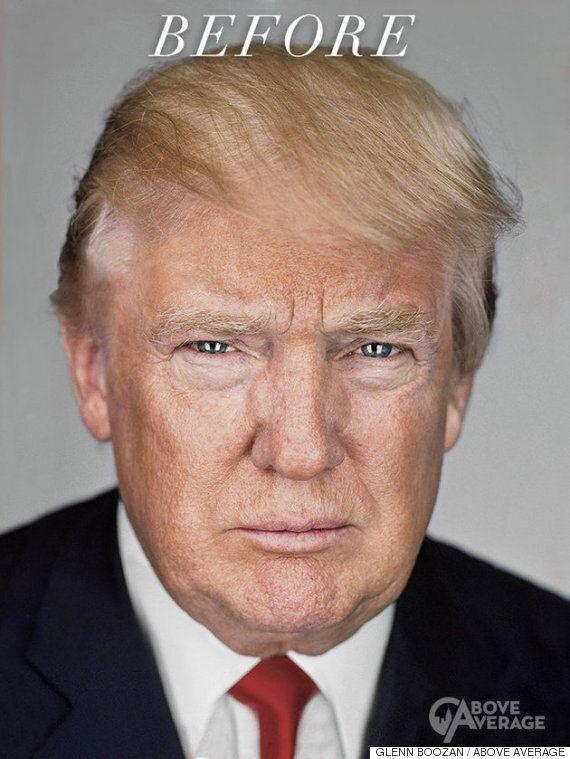 트럼프를 볼만한 수준까지 포토샵으로