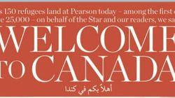 시리아 난민들을 환영하는 캐나다의