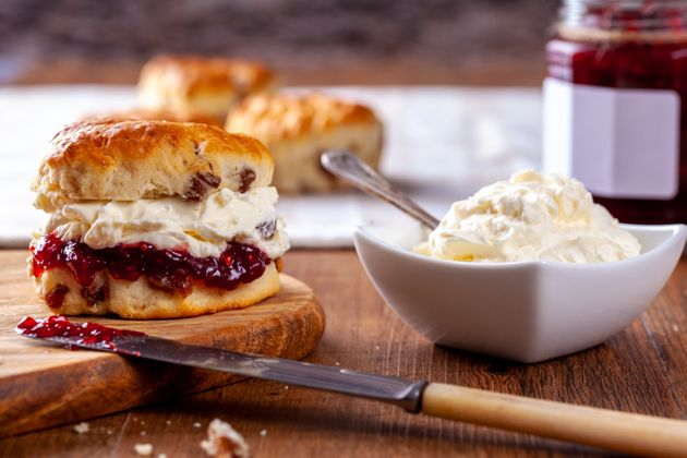 Scones with Strawberry Jam and Clotted