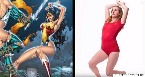 여자들이 코믹스 여성 히어로들의 포즈를