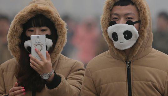 지금 베이징 시민들의 '마스크' 스트리트