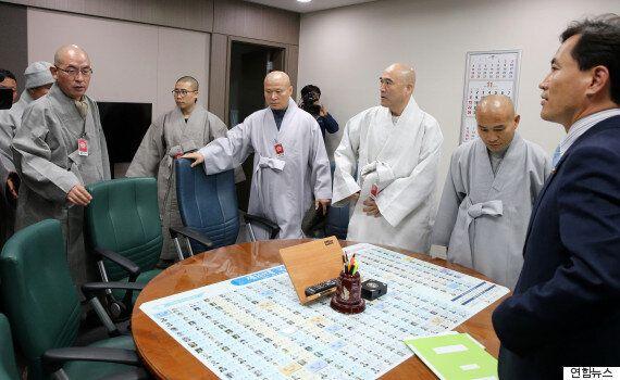 조계사 스님들이 김진태 의원을 찾은