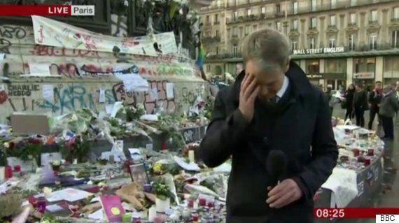 BBC 기자는 파리 테러를 보도하던