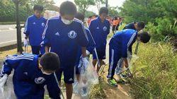 후쿠시마에서 중고생과 쓰레기를 주운 단체에 비난이