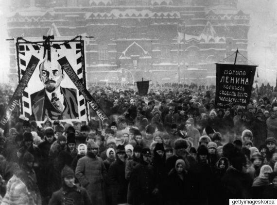 김무성, 레닌 장례식 때 스탈린에