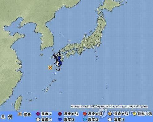일본 규슈 서쪽 바다서 규모 7.0 지진, 일부 지역