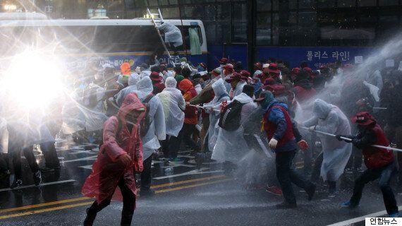 '민중총궐기' 과잉진압 40.7% : 불법시위 38.2%