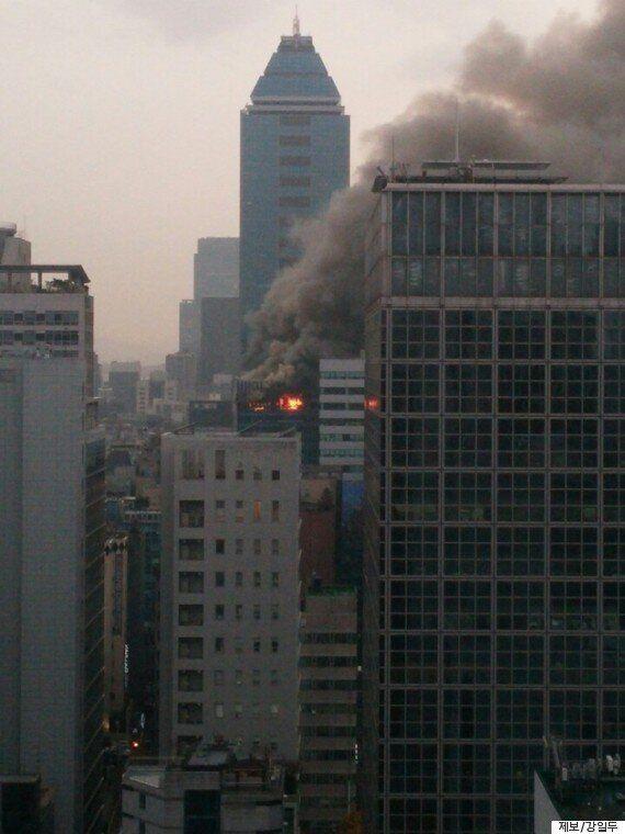 강남구 역삼동 숙박업소 밀집 지역에서 화재 발생(사진,