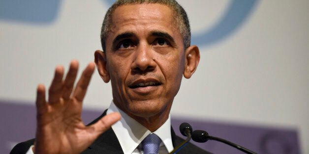 President Barack Obama speaks during a news conference following the G-20 Summit in Antalya, Turkey,...