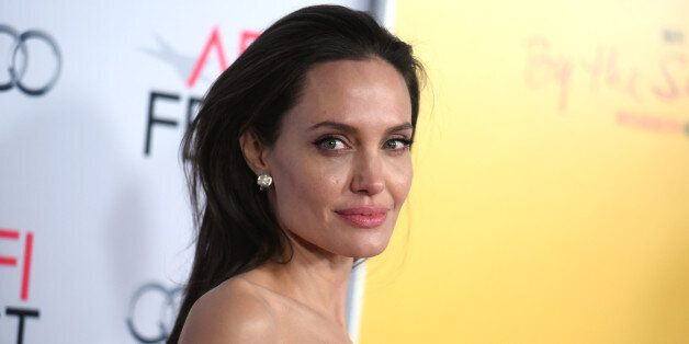 Angelina Jolie arrives at the 2015 AFI Fest opening night premiere
