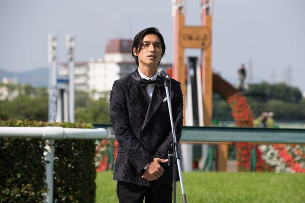 TAKARAZUKA, JAPAN - JUNE 24 : Kanjani Eight's Ryo Nishikido at Hanshin Racecourse during the Takarazuka...