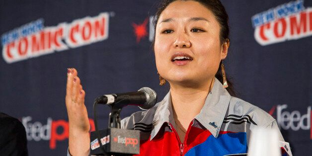 IMAGE DISTRIBUTED FOR DISCOVERY COMMUNICATIONS - Astronaut Soyeon Yi speaks at the Science Channel Secret...