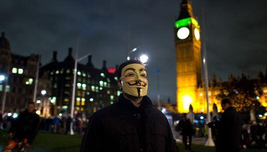 [화보] 영국 런던 '백만 마스크