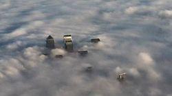 극심한 안개로 뒤덮인 런던의 풍경(사진,