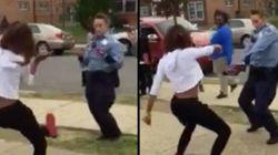 춤 대결로 10대 싸움 말린 여성