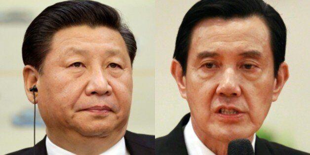 시진핑(習近平) 중국 국가주석과 마잉주(馬英九) 대만