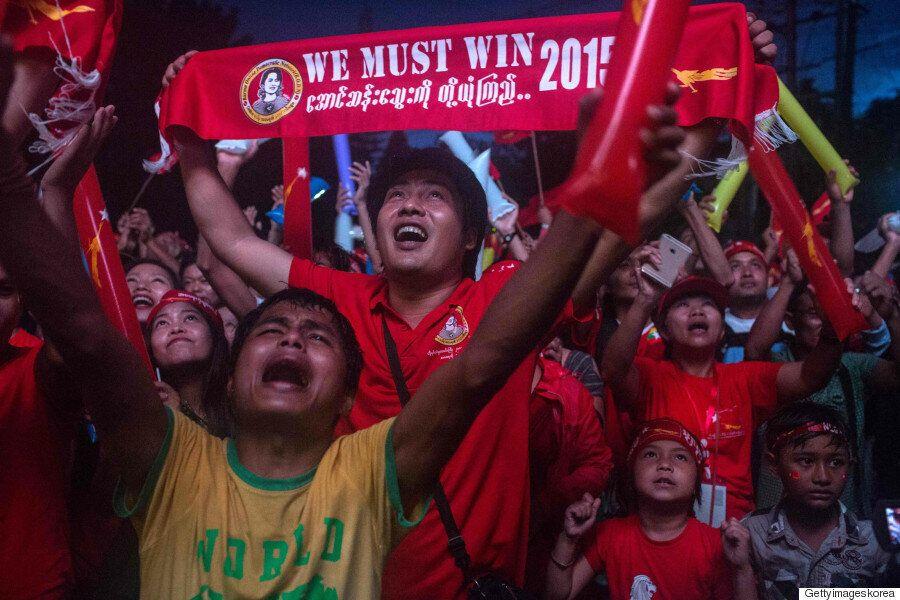 [미얀마 총선] 아웅산 수치 야당, 개표초반 의석 94%