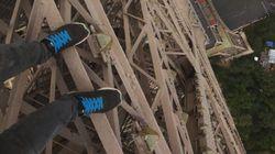 맨손으로 에펠탑에 올라가서 셀카와 동영상을