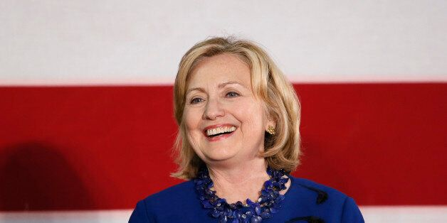 Former U.S. Secretary of State Hillary Rodham Clinton speaks at a rally for U.S. Senate candidate Gary...