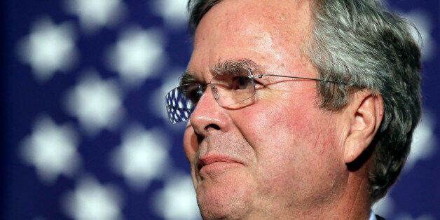 In this Oct. 6, 2015, file photo, Republican presidential candidate former Florida Gov. Jeb Bush speaks...