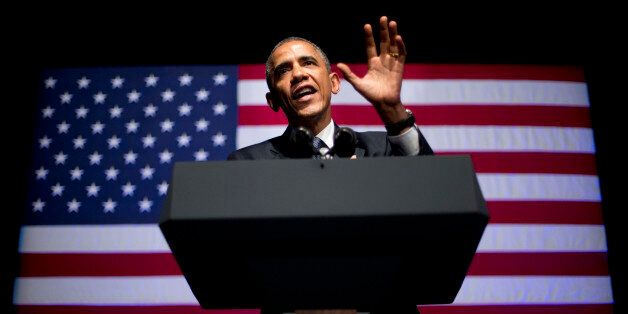 FILE - In this Tuesday June 17, 2014 file photo President Barack Obama speaks at the Democratic National...
