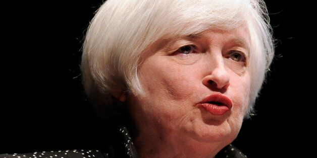Federal Reserve Chair Janet Yellen speaks on inflation dynamics and monetary policy at the University...