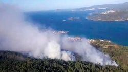 Galicia registra un nuevo incendio en Fisterra y mantiene cuatro bajo