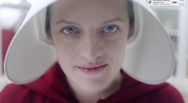 Elisabeth Moss in 'The Handmaid's