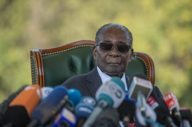 HARARE, ZIMBABWE - (ARCHIVE): A file photo dated July 29, 2018 shows Former President of Zimbabwe Robert...