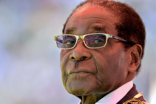 Zimbabwean President Robert Mugabe looks on during his inauguration and swearing-in ceremony on August...