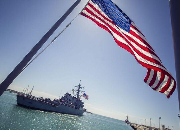 El USS Porter, en la Base de Rota, en una imagen de
