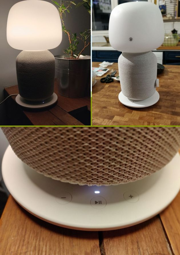 La lampe de table s'illumine à l'aide d'une ampoule E14 de