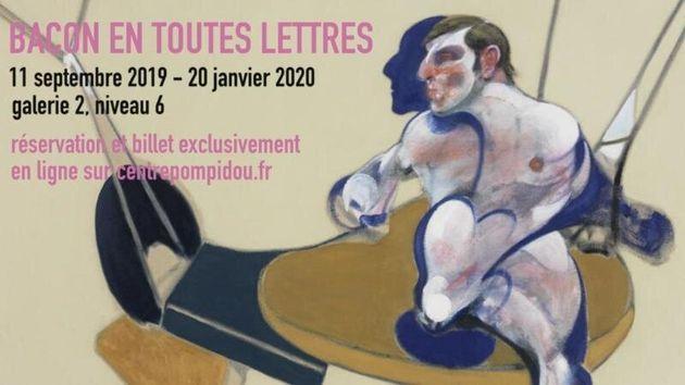Bacon en toutes lettres au Centre Pompidou du 11 septembre 2019 au 20 janvier