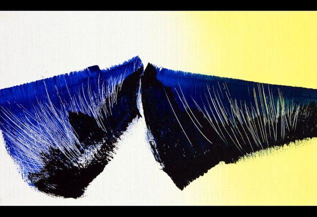 Hans Hartung, T1966-K40, 1966. Peinture vinylique sur