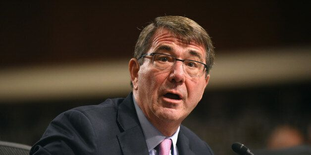 Defense Secretary Ash Carter testifies on Capitol Hill in Washington, Tuesday, Oct. 27, 2015, before...