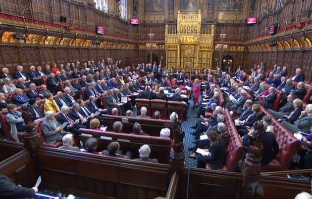La salle du parlement britannique à Londres. (photo