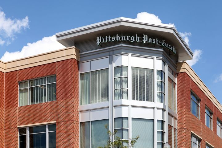 The Pittsburgh Post-Gazette building in Pittsburgh, Pennsylvania is seen on August 26, 2016.