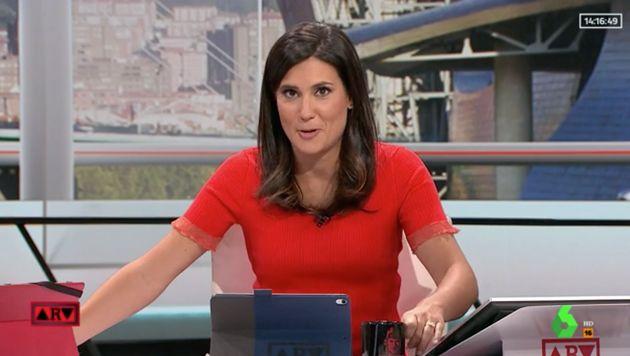 María Llapart, presentadora de 'Al Rojo