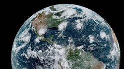 Dorian: l'image impressionnante de l'ouragan aligné avec trois autres