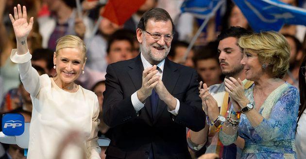 Imagen de archivo de Cristina Cifuentes, Mariano Rajoy y Esperanza