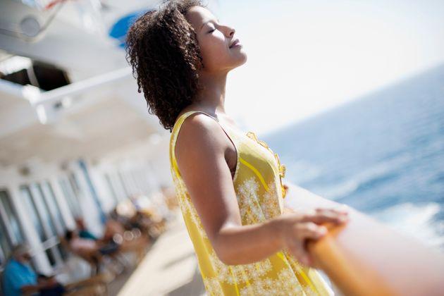 Woman Enjoying the Sun on