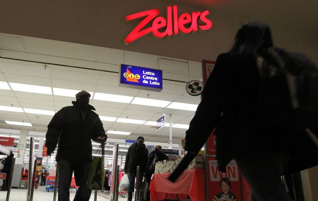 In this file photo, customers enter a Zellers store at Toronto's Gerrard