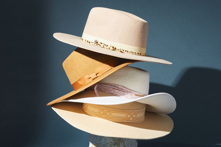 "(Pictured: Various hats at <strong><a href=""https://fave.co/2ZLfTCh"" target=""_blank"" rel=""noopener noreferrer"">Anthropologie</a></strong>)"