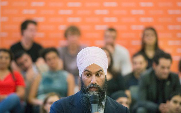 Le chef du NDP Jagmeet Singh a tenu une rencontre à Montréal, le jeudi 5 septembre 2019,...