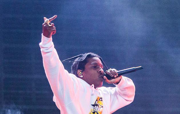 Le rappeur américain A$AP Rocky ici lors d'un festival aux Pays-Bas le 18 août